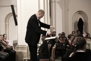 Tom conducting the Mozart Requiem in April 2014