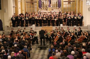 The choir performing the Mozart Requiem in April 2014